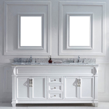 72inch Double Sink Bathroom Vanitymarble Top White Bathroom