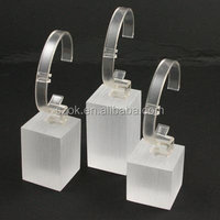 Different shapes high craft acrylic watch block display for counter top