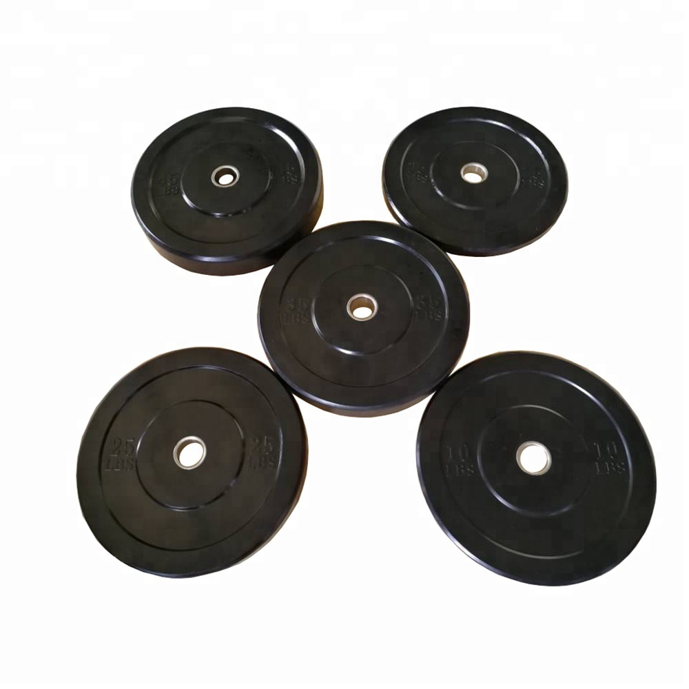High Quality <strong>Weight</strong> Lifting Solid Black Rubber Bumper Plate