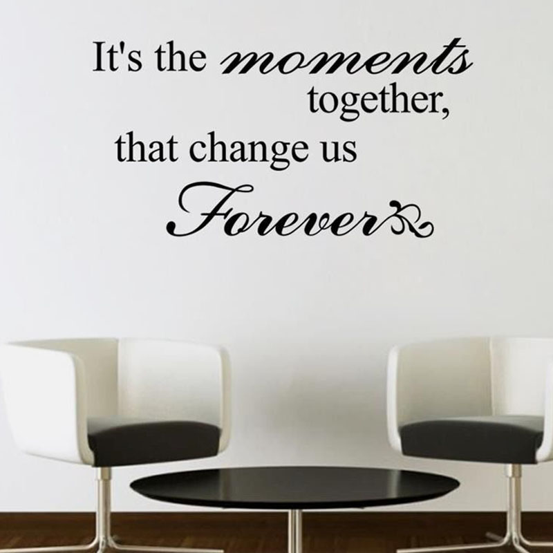 That Change Us Forever Living Room Simple Design Sentence Wall Mural Vinyl Removable Home Decor Wall Sticker