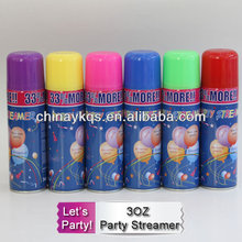 3OZ non-Flammable Color Silly String Spray / Party Crazy String
