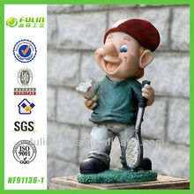 Active Dwarf Stand Garden Resin Gnome Sport Art