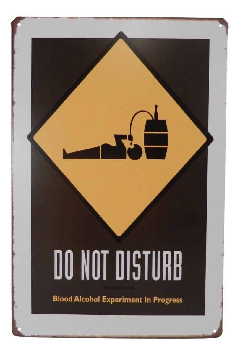 Warning Do Not Disturb Alcohol Funny Tin Sign Bar Pub Garage Diner Cafe Wall Decor Home Decor Art Poster Retro Vintage