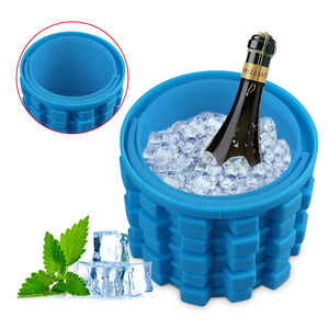 New Design Hot Product Ice Maker Genie, FDA Food Grade silicone Ice Cube Mold bucket, Easy Operation Silicone Ice Cube bucket