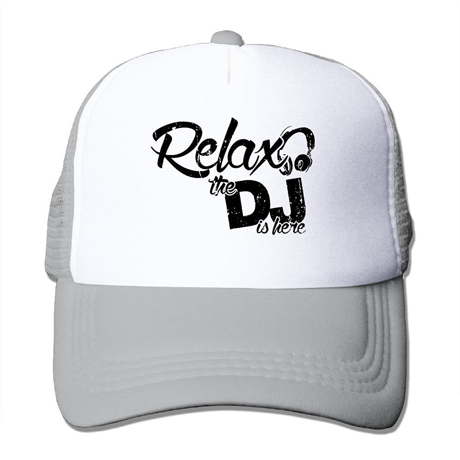 c29f0a05110 Get Quotations · Crazy Popo Outdoor Sports Hat - Relax The DJ Is Here  Adjustable Trucker Hat Cap Adult