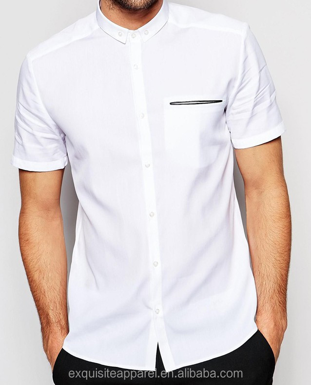 2016 Snow White Fashion Fancy Dress Shirts For Men White Dress ...