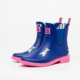 navy upper pink outsole white dog printed lovely fashion design chelsea rubber shoes waterproof wellies low cut ankle rain boots