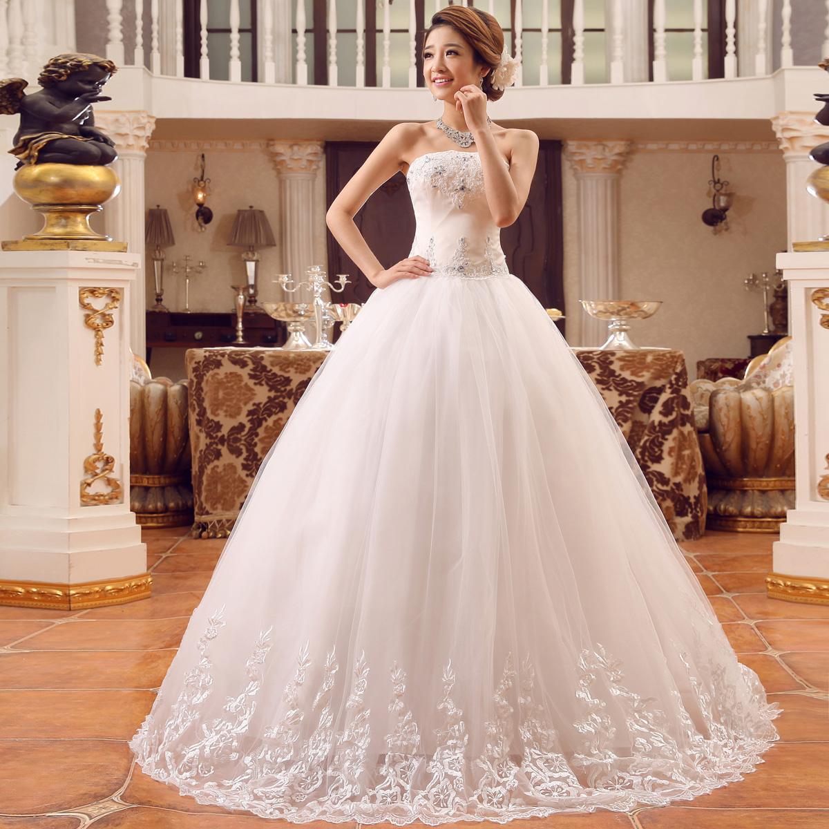 Bride Cheap Wedding Dress 2015 Plus Size White Lace