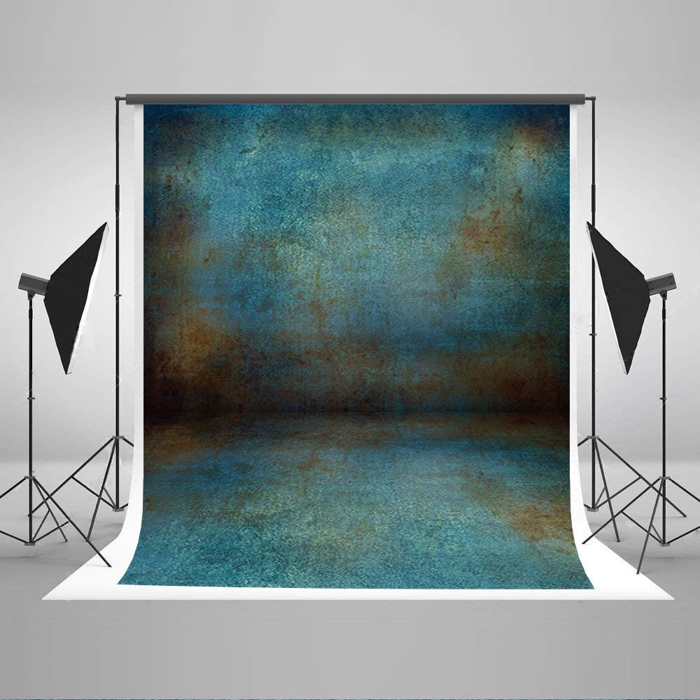 Kate 5ft(W)x7ft(H) Abstract Photography Backdrops for Photographers Microfiber Brown Blue Rusty Photo Background