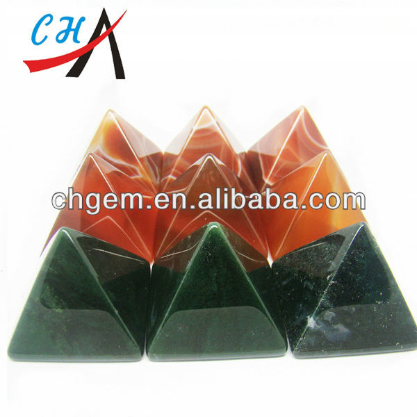 Wholesale Factory Price Gemstones Agate Pyramids for Vastu