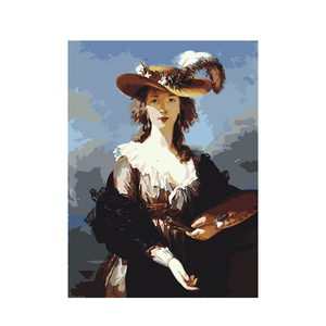 Amazon Hot Selling Women in Classical English Style Decorative hanging Painting by numbers Diy Digital Oil Painting with Frame
