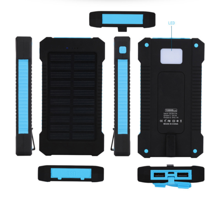 Wholesale Portable Solar Power Bank 20000Mah for Phone Accessories Mobile H