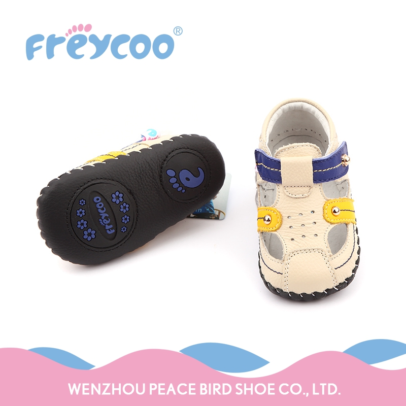 2017 new born summer breathable cream-coloured baby loafer shoes