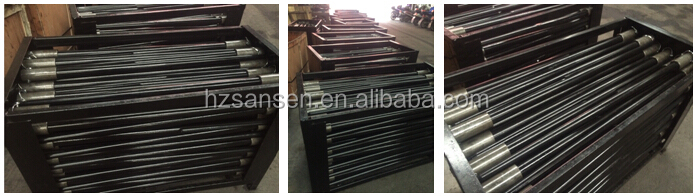 "45"" spare parts of hay equipment, Hay Spears/bale spears for skid steer tractor attachments with sleeve or tapered nut"
