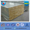 insulated fireproof rockwool sandwich wall and roof panels for plants, garage,factory,poultry house,storage