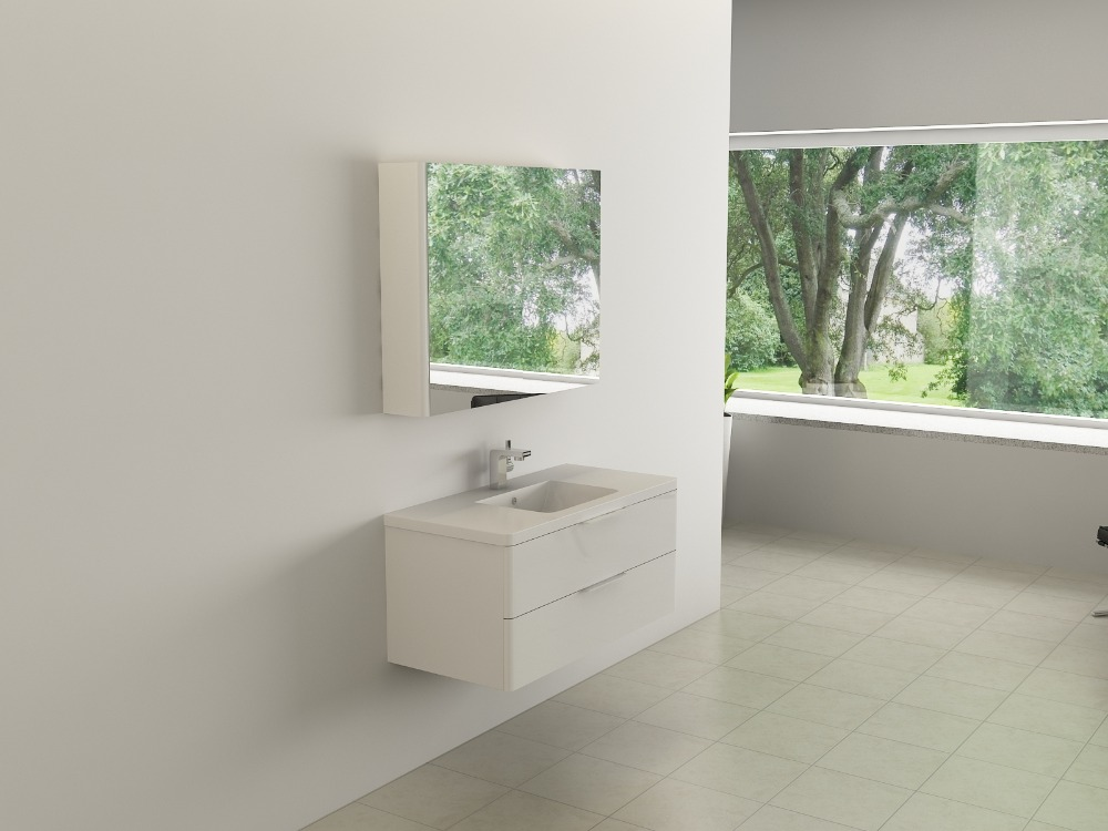 Waterproof MDF/MFC Bathroom Vanity units & Cheap Modern Bathroom Vanity Furnitures Sets