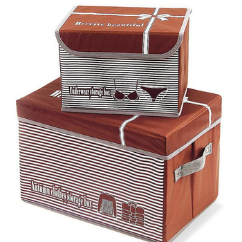 Cardboard Storage Trunk Household Folding Storage Containers Lidded Storage  Boxes