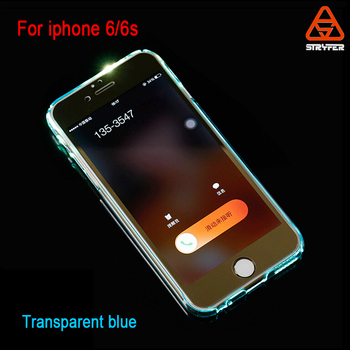 pretty nice 89680 87c04 Flash Light Up Transparent Case Cover For Iphone 6/6s,For Iphone 6s Clear  Pc Material Calling Led Light Phone Case - Buy Factory Low Price Hot  Selling ...