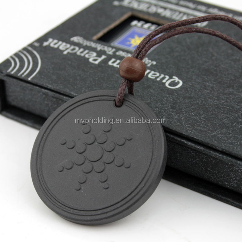 Quantum Pendant Necklace Scalar Energy Pendant with Negative Ion Lava Stone Jewelry Negative Ion Science Bio