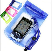 23.5*12.3CM PVC portable outdoor transparent Water/dust proof mobile/cell phone/camera bag/case