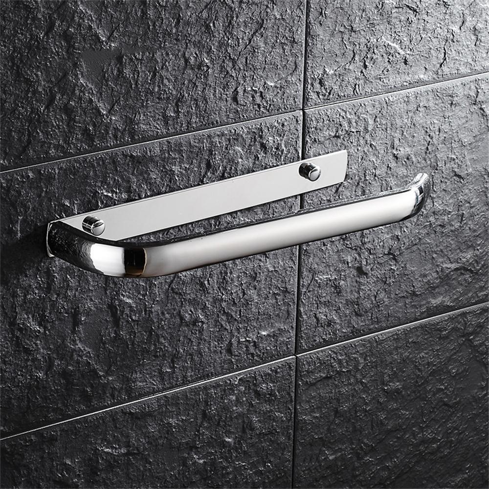 TOYM US- 304 Stainless Steel Bathroom Towel Rack Bathroom Racks Metal Pendant Square Towel Ring