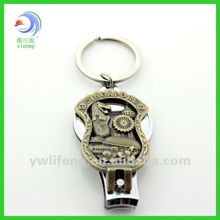 Hot Sale Singapore Engraved Metal Nail Clipper With Keychain For ...