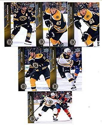 2015-16 Upper Deck Boston Bruins Hockey Master Team Set of 13 Cards: Brad Marchand(#14), David Krejci(#15), David Pastrnak(#16), Dennis Seidenberg(#17), Loui Eriksson(#18), Zdeno Chara(#19), Tuukka Rask(#20), Matt Beleskey(#264), Ryan Spooner(#265), Torey Krug(#266), Patrice Bergeron(#267), Brett