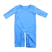Solid Infant Clothing Boutique Sequin 0-3years Baby Clothes Boys Blue Longsleeve Romper