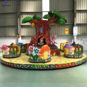 Cheap amusement rides kiddie carnival game fiberglass material rotary coffee cup carousel ride for sale