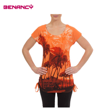Palm Or Animal Print Tshirt Tops For Big Size Women