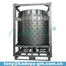 1000L stainless steel jacket solvent tank