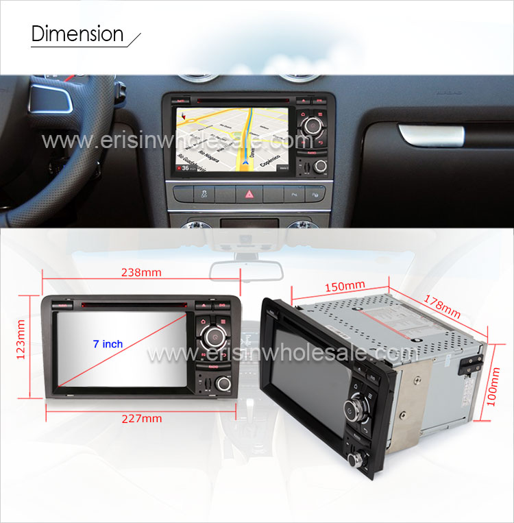 android 7.1 autoradio lcd cd player gps dab+bluetooth for audi a3 s3