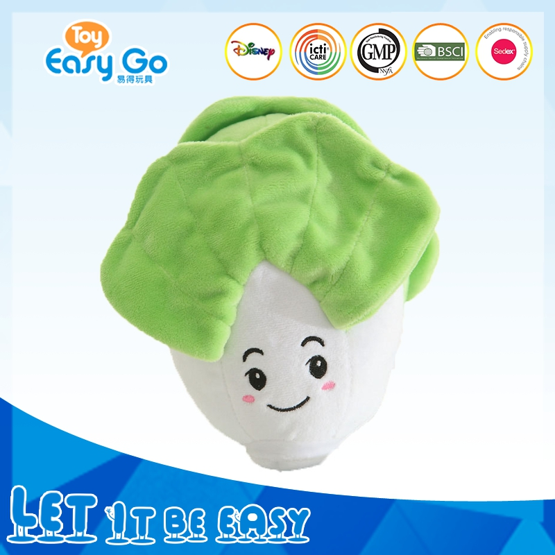 Cute Different colors Stuffed Food Plush Vegetable toy For Kids