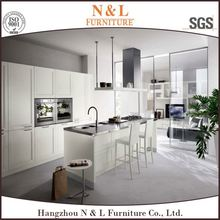 South Korea exported handle-free style kitchen cabinet