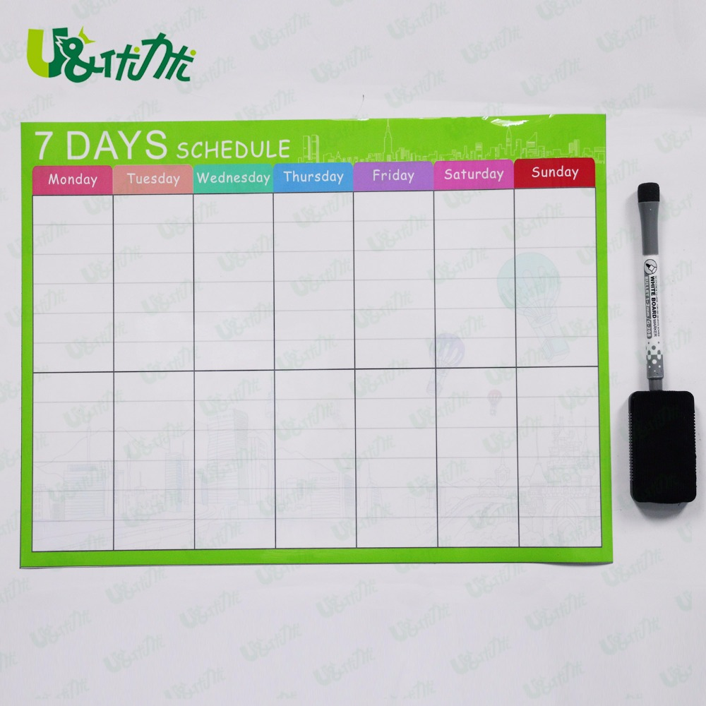 Magnetic Calendar for Kids Schedule Reward Chart Dry Erase Open Faced Planner 40 x 30 cm