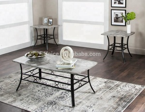 grey cement modern MDF coffee table and end table