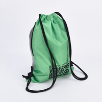 Gym fold able backpack drawstring poly bag