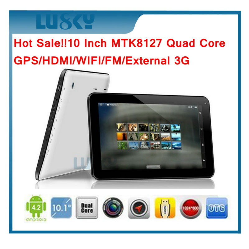 10.1 Inch MTK8127 4 Core O.S. 4.4 Android Tablet pc, 1GB/8GB,1024*600, with build-in GPS/HDMI/WIFI/BLUETOOTH 4.0