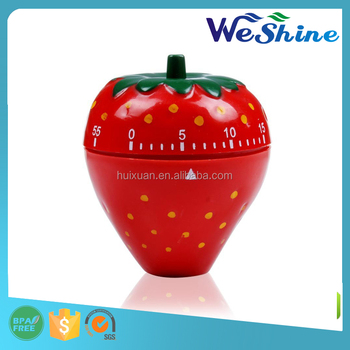 Novelty Strawberry Shape 60 Minute Mechanical Kitchen Timer
