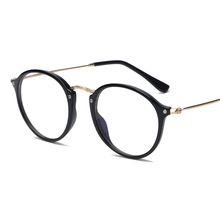 ZHAOMING new glasses for computer protection men women brand black clear eyes glasses optical 2018 metal round eyeglasses frames