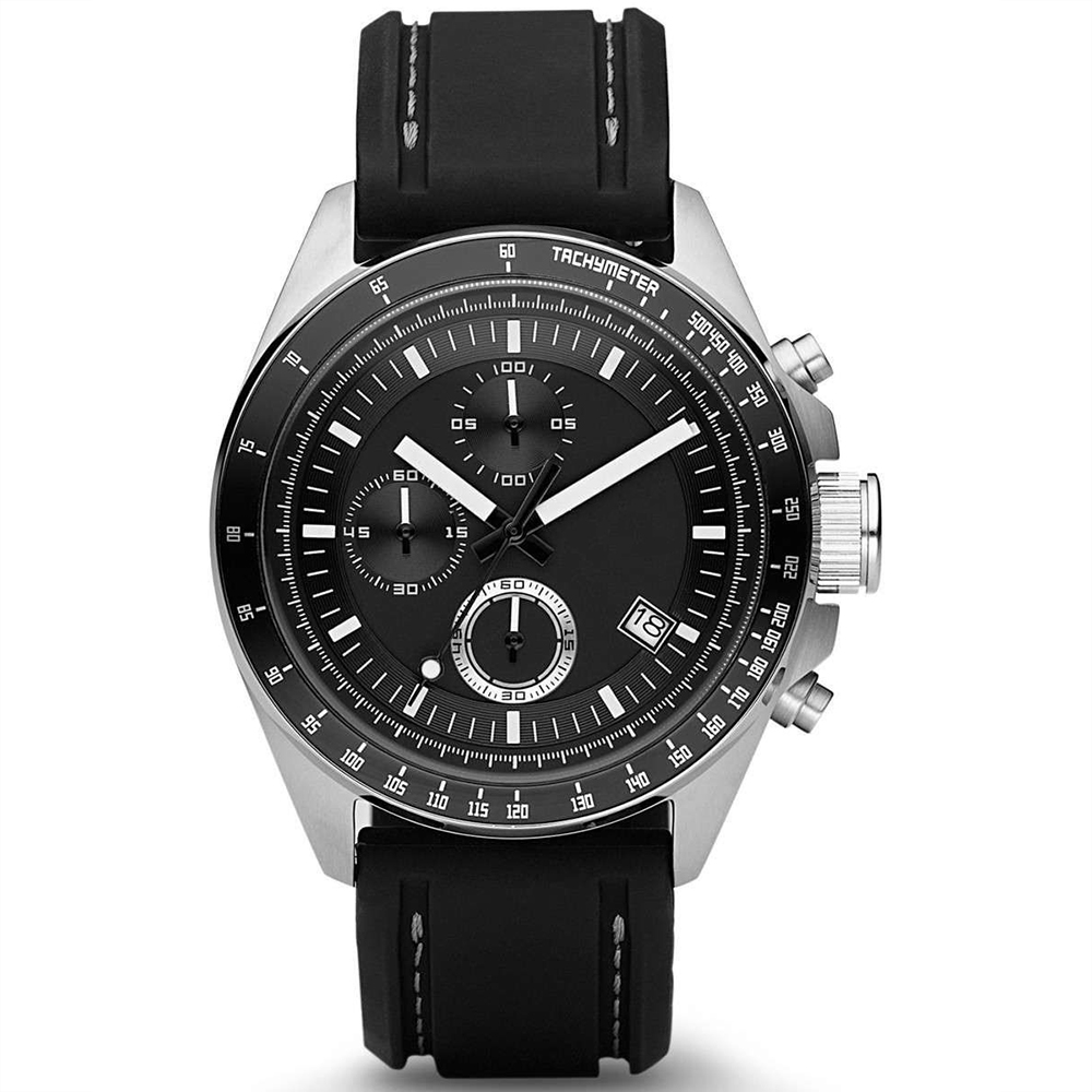 Stainless steel mens watch Black Japan Movt Quartz wrist watch silicone rubber watch фото