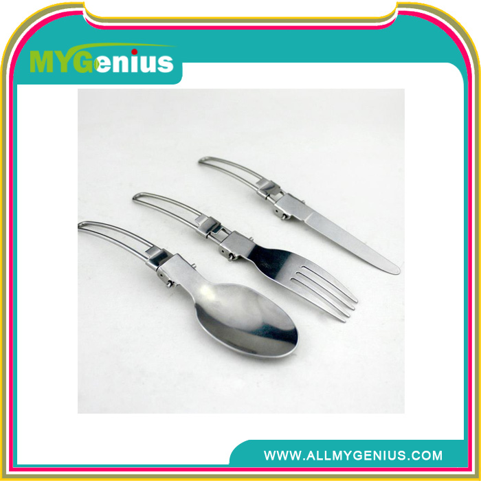 tableware wholesale ,W009, best green knife fork spoon travel cutlery set with nylon bag