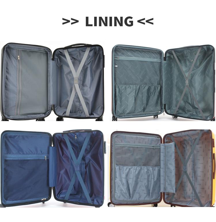 Chariot de voyage sac à bagages étanche coquille dure valise rétractable