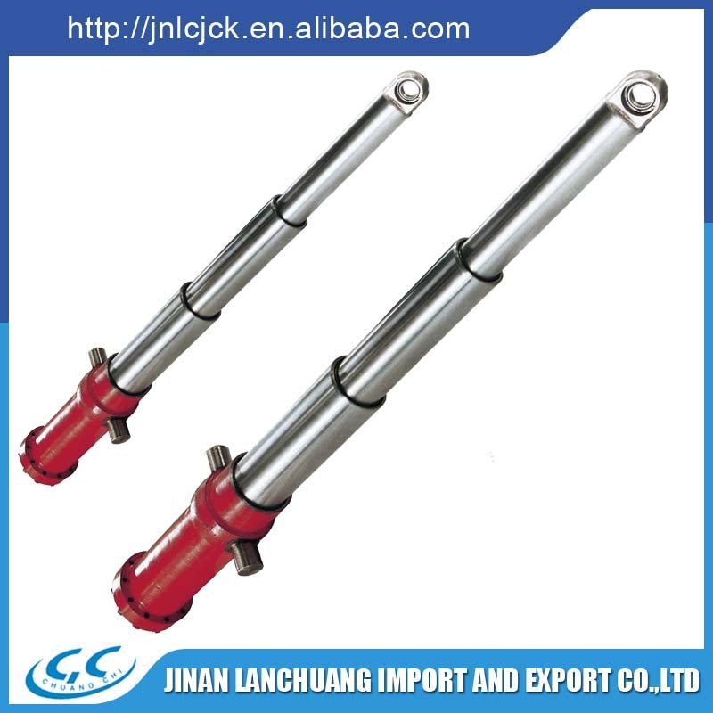 5 stage telescopic Hydraulic Cylinder