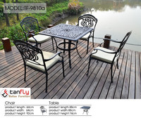 Factory original outdoor furniture cast aluminum table and chairs