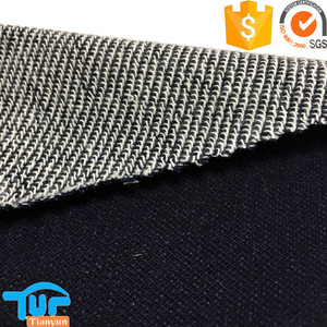 soft textile french terry tricot knitted 100% cotton denim fabric
