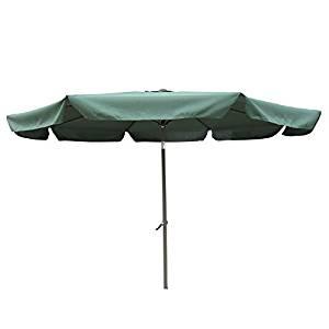 10' Aluminum Tilt and Crank Patio Umbrella with Flaps