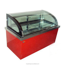 Double temperature glass door bar fridge
