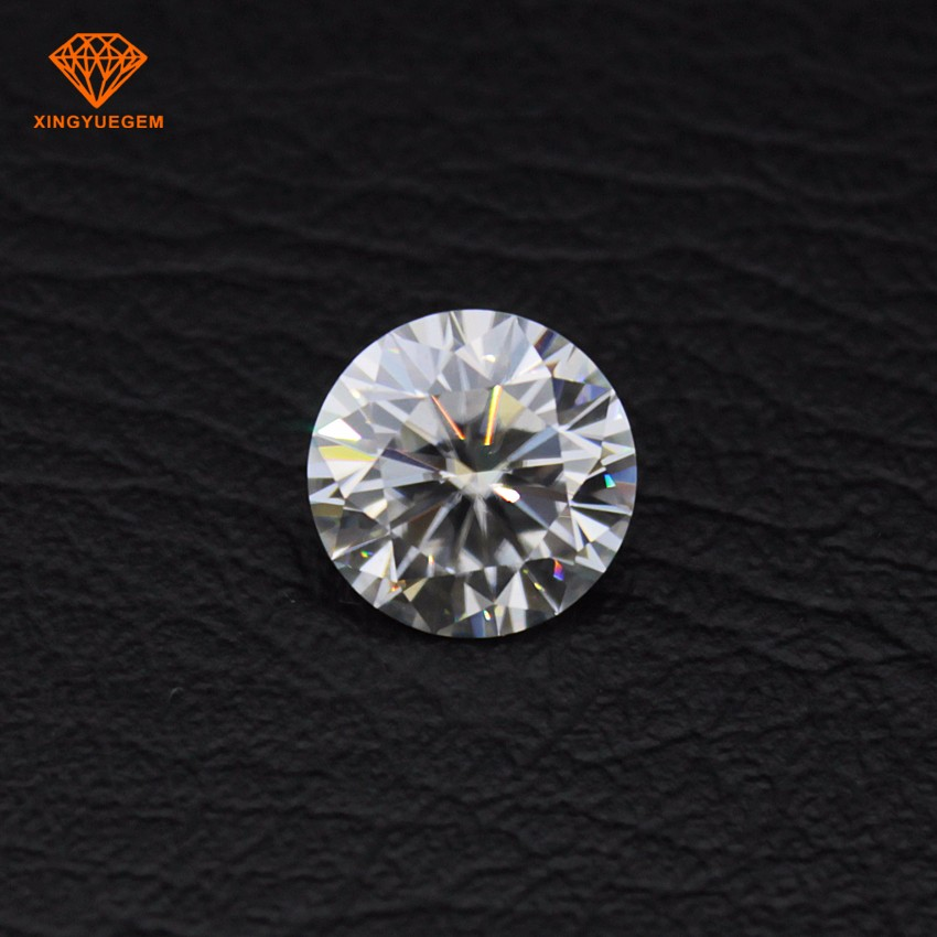 China higt quality moissanite <strong>stone</strong> 4mm EF pure white VVS clarity moissanite loose gemstone