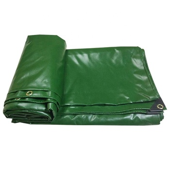 PVC UV Resistant Waterproof Fabric Cloth Heavy Duty Tarpaulin 1000D Green Plastic Sheet Waterproof Tarpaulin for Swimming Pool